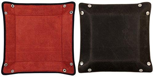 taschenleerer-hunter-veloursleder-natur-schwarz-rot
