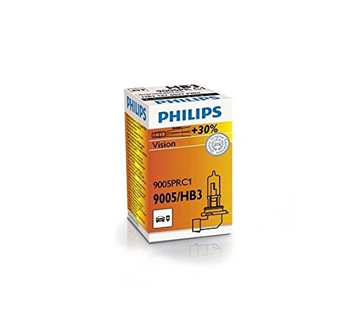 Preisvergleich Produktbild 2 Stück PHILIPS 9005PRC1 HB3 9005 12V 65W P20d Vision +30% Halogen Lampe