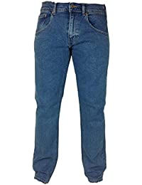 Mens New Extra STRETCH JEANS RV Soft Feel W 32- 56 Leg 27 29 31 Basic Regular Fit Pants Straight Bottoms Plain Casual Jeans Smart Every day wear Large Size Big Small Short Regular Long