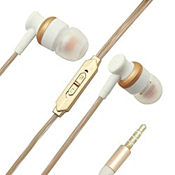 Extra Bass in-Ear Wired Earphones Compatible for iBall Andi Avonte 5 -White