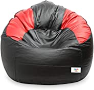 VSK Bean Bag XXXL Sofa Mudda Cover Black & Red Multi Color (Without Be