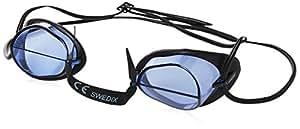 Arena unisex racing Goggles Swedix, BLUE-BLACK, one size