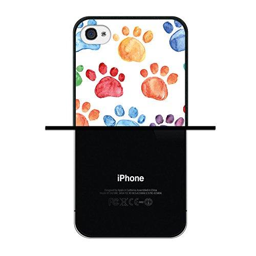 iPhone 4 iPhone 4S Hülle, WoowCase Handyhülle Silikon für [ iPhone 4 iPhone 4S ] Blaue portugiesische Filese Handytasche Handy Cover Case Schutzhülle Flexible TPU - Transparent Housse Gel iPhone 4 iPhone 4S Schwarze D0190