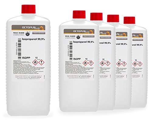 5 litro di isopropanolo 99,9%, alcool isopropilico 2-propanolo IPA, il detergente universale per la pulizia profonda, lo sgrassaggio e la decolorazione per la casa, il tempo libero e l'industria.