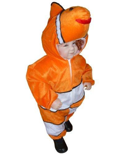 J22 Größe 68-74 Fisch Kostüm für Babies und Kleinkinder, bequem über normale Kleidung zu tragen