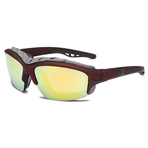 AOLVO Polarisierte Sport-Sonnenbrille, UV-400-Schutz, Brille, HD-Fahrrad, Radfahren, Skifahren, Angeln, Softball-Brille für Herren und Damen e