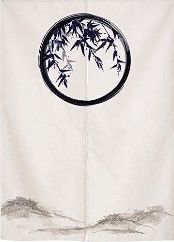 SK Studio Japanische Noren Vorhang Türvorhang Tapisserie Fliegen Insektenvorhang Raumteiler Chinesische Landschaftsmalerei Style 3 25.59x35.43inch(65x90cm)