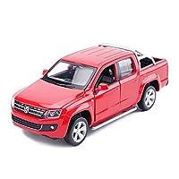 Descrizione del prodottoNome prodotto: modello di autoCategoria: pickup Volkswagen AMAROKColore: blu, rossoDimensioni: 15x6x5 cmRapporto: 1:32Materiale: metallo, plastica, gommaEtà applicabile: 8 anni o piùPrestazioni del prodotto: funzione di richia...