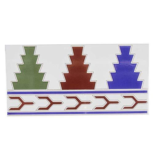 Orientalische Bordüre marokkanische Fliesenbordüre Narjis 28 x 14 cm | Maurische Ornamentfliesen Relieffliesen | schöne Wand-Dekoration im Bad & Küchenrückwand