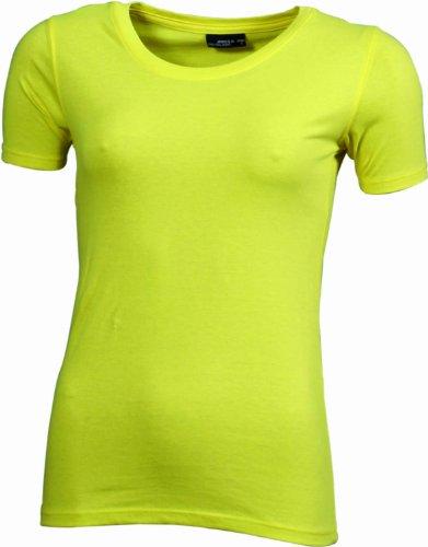 JAMES & NICHOLSON T-shirt Basic - T-shirt de Maternité - Femme Jaune (yellow)