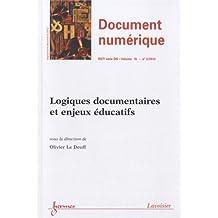 Revue des Sciences et Technologies de l'Information Volume 15 N° 3/2012 Logiques documentaires et enjeux éducatifs - Olivier Le Deuff