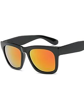 LVZAIXI Lens Wayfarer Occhiali da sole - Style Unisex Shades UV400 Protective Mens Ladies ( Colore : Giallo )