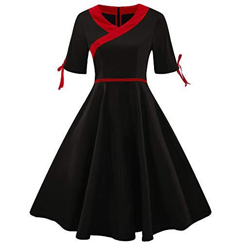 Ears Frauen Abendkleid Mode Plus größe Kurzarm Vintage -
