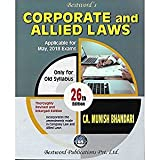 CORPORATE LAW AND ALLIED LAWS BY CA MUNISH BHANDARI (FOR MAY, 2018 EXAMS)