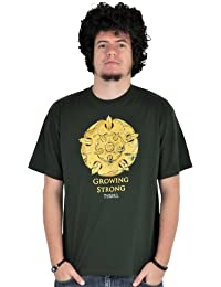 Game of Thrones, Haus Tyrell Wappen T-Shirt, edles großes Frontmotiv, Baumwolle