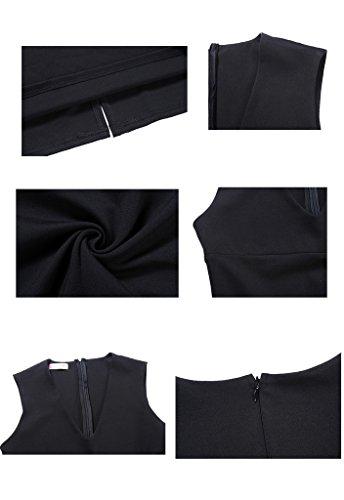 buenos ninos -  Vestito  - Senza maniche  - opaco - Donna Black