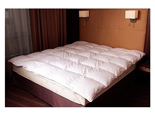 Mayaadi-Home MA46 Warme Daunendecke 200x220cm Bettdecke Daunen Decke Steppdecke Weiss 1400 Gr. 100 prozentiges Naturprodukt