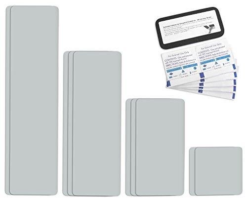 Preisvergleich Produktbild Tape selbstklebendes Planen Reparatur Pflaster Set Easy Patch comfort 100mm Breite - 10 Teile - lichtgrau RAL 7035