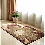 C & H/Felpudo Alfombrilla de baño cama dormitorio alfombra cocina puerta entrada pasillo Slip water-absorbing alfombrillas 5