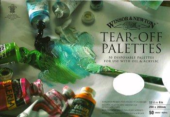 W- & -N-Tear Off Palette: Medium 11 1/2 x 8 in 50 Blatt für Öl und Acryl