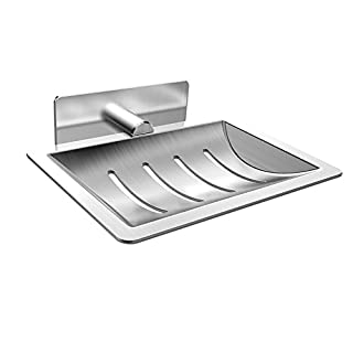 Seifenhalter, ONEZERO® Seifenschale 3M Selbstklebende Edelstahl-seifenablage ohne Bohren Bewerben auf Badezimmer Küche
