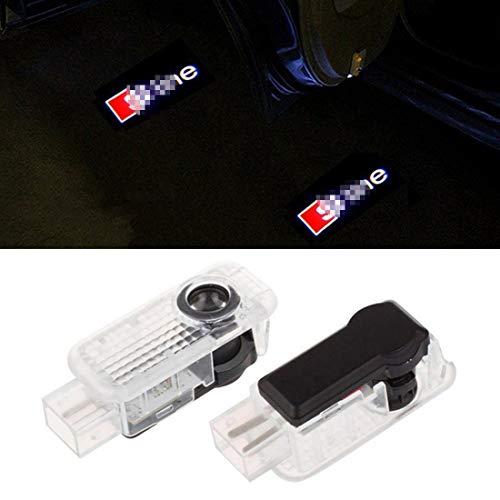Cool Design 2er Pack Autotür Logo Projektion Licht Türbeleuchtung Willkommen Licht (2PC)