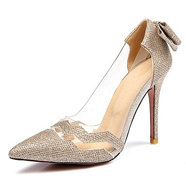 LvYuan Sandalen-Büro Kleid Party & Festivität-Kunststoff-Stöckelabsatz-Club-Schuhe-Schwarz Silber Gold Gold