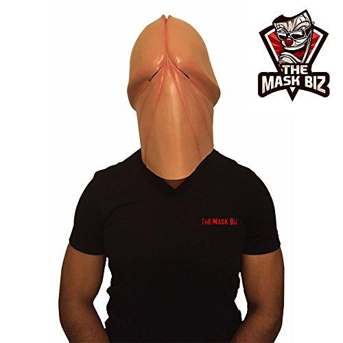 The Mask Biz Penismaske Schwanzkopf Lustige Maske (Awesome Halloween Masken)