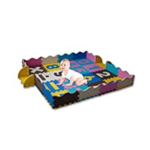KAYBABY Baby Play Mat 36 PC for Infants with Fence Extra Large Foam Tiles Tummy Time Mat Playmat for Kids Toddlers Gym Mats Crawling Rug for Play Activity Center Playroom