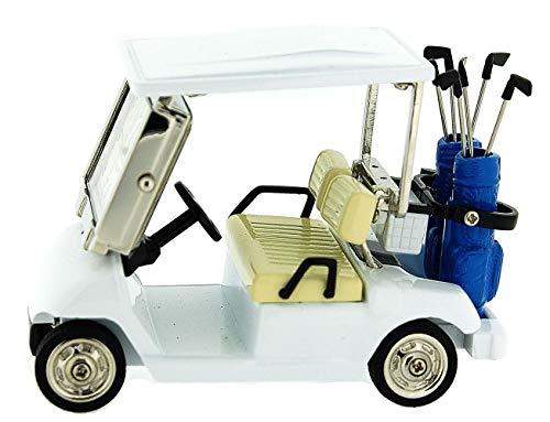 Mini Novelty Quarz Wecker für Sammler - Golfauto crème-silberfarben 0610 -