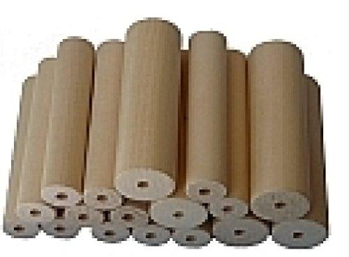 Preisvergleich Produktbild Holzset sortiert [163120] Rundhölzer Linde: 12 Stk 20mm, 5 Stk 30mm