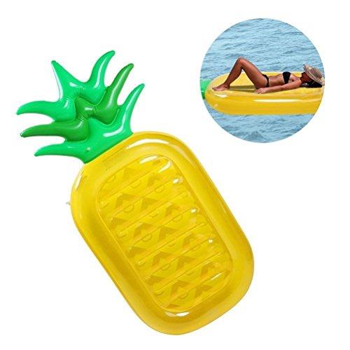 Hequn gigante gonfiabile ananas piscina galleggiante-giocattoli di nuoto giocattolo estate gonfiabile per bambini e adulti giocattolo zattera materassino per festa in piscina lettini