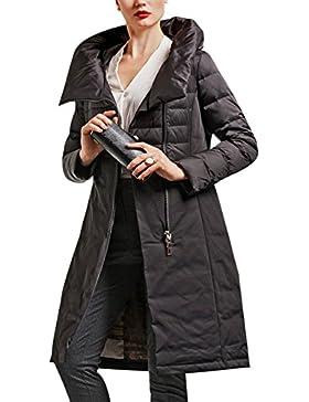 Youlee Mujeres de invierno con punto de chaqueta con capucha impreso