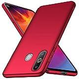 Arkour für Galaxy A8S Hülle, Minimalistisch Ultradünne Leichte Slim Fit Handyhülle mit Glattes Matte Oberfläche Hard Case für Samsung Galaxy A8S (Glattes Rot)