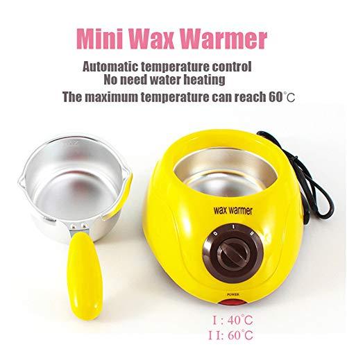 Wax Warmer Pot 250ML Mini Portátil SPA Terapia De Parafina Hair Remover - Calentador De Chocolate Y...