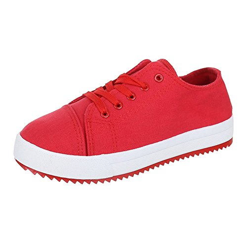 Chaussures femme, AC 21, de loisirs chaussures lacets Sneakers Rouge - Rouge