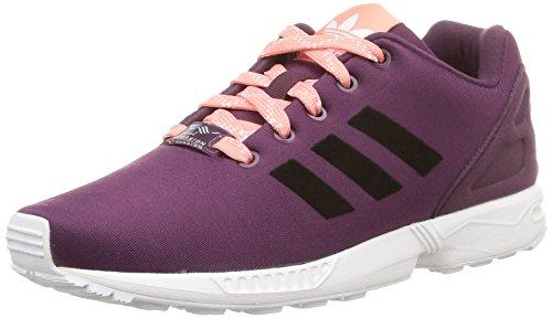 adidas ZX Flux K, Chaussures de course fille Violet - Violett (Merlot F15-St /Core Black/Ftwr White)