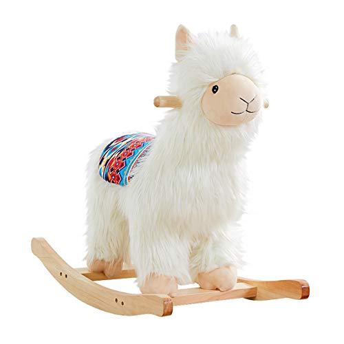 RM Design Schaukelpferd Lama Alpaka für Kinder und Babys ab 1 Jahr aus Holz 53 cm