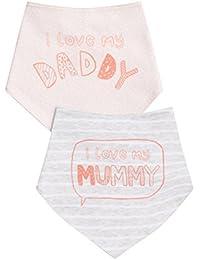 next Lot de deux bavoirs de dentition I Love My Mummy Daddy mixte bébé Standard