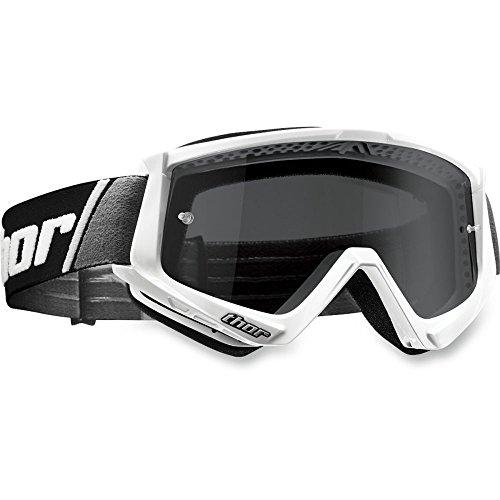 Thor Combat Sand Goggle Crossbrille Weiss Motocrossbrille Offroad Enduro Quad Yamaha Kawasaki KTM Honda Downhill ATV Motocross Cross Brille getöntes Glas