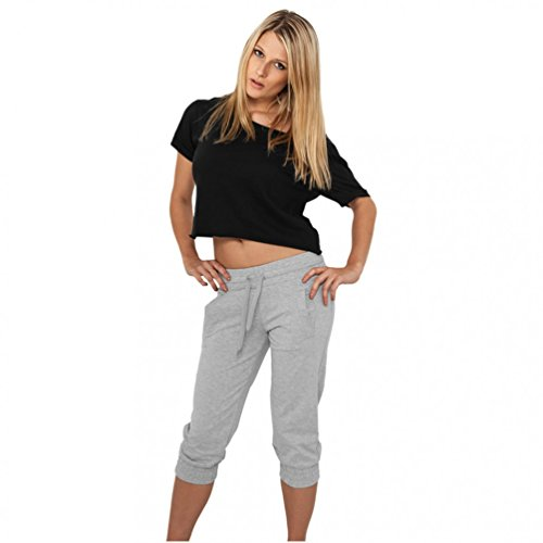 French Terry Classic Fit Pant (Urban Classics Damen Shorts Ladies French Terry Capri türkis XS)