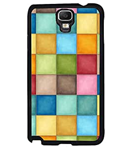 Printvisa Multicolour Check Pattern Back Case Cover for Samsung Galaxy Note 3 Neo N7505
