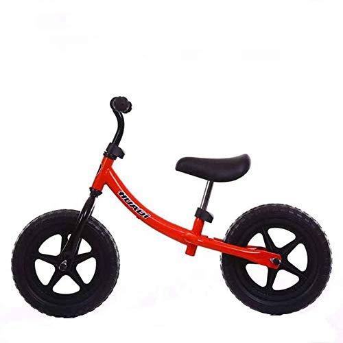 Kinder-Laufrad, sicheres Fahrrad für Anfänger - Für Kinder von 2-6 Jahren, Jungen, Mädchen, leichtes Trainingsfahrrad, Verstellbarer weicher Sattel, Rutschfester Griff, 12