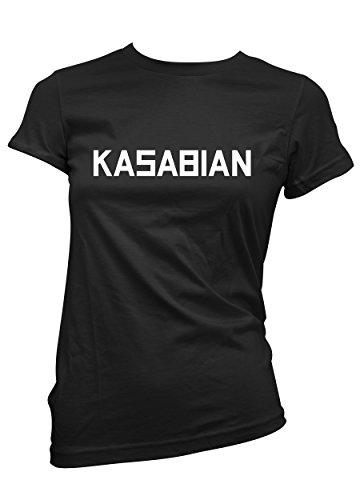 T-shirt Donna Kasabian - maglietta rock 100% cotone LaMAGLIERIA,M, Nero