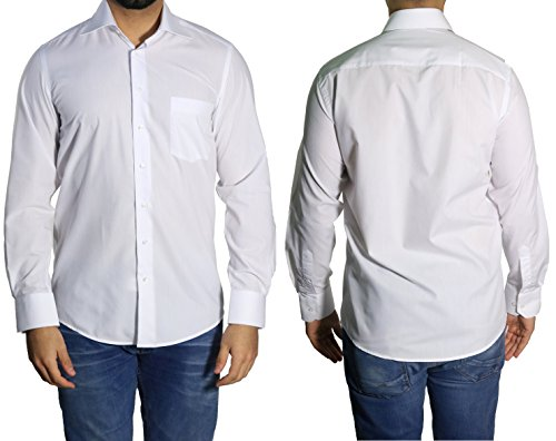Muga chemise manches longues, Blanc Blanc