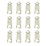 Westeng 12 Stück Metall Büroklammern Deko Büroklammern Pfeil Motiv Aktenklammer Heftklammer für Lesezeichen Büro Schule Notebook (gold)