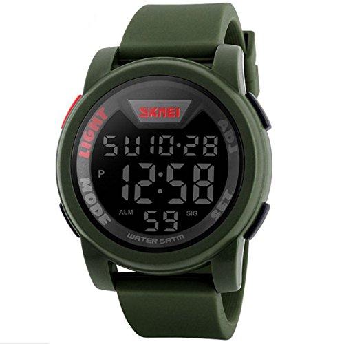 Reloj de pulsera digital estilo militar