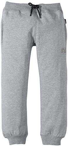 NAME IT SWEAT KIDS PANT BRUSHED R NOOS - Pantaloni per bambini e ragazzi, Grigio (Grey Melange Detail:GREY MEL W BLACK), 140
