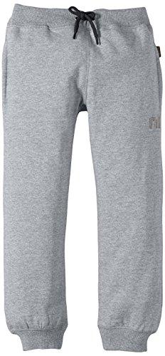 NAME IT SWEAT KIDS PANT BRUSHED R NOOS - Pantaloni per bambini e ragazzi, Grigio (Grey Melange Detail:GREY MEL W BLACK), 140