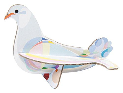 Studioroof Biglietto di auguri Colomba, 3D in cartoncino riciclato, da montare